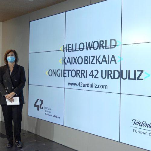 """Bizkaiko Foru Aldundiak eta Telefónica Fundazioak 2021ean """"42"""",  programazio campus berritzailea, irekiko dute Urduliz Dorrean"""